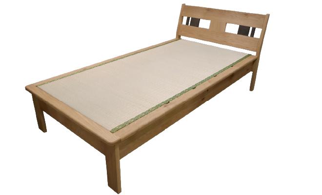 天然柿渋油仕上げ ドングリの木の畳ベッド